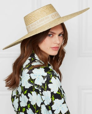 Off-White cotton canvas-trimmed straw sunhat, £175 from Net-a-Porter.