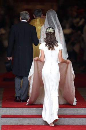 Pippa Middleton at the wedding of her sister Kate in 2011.