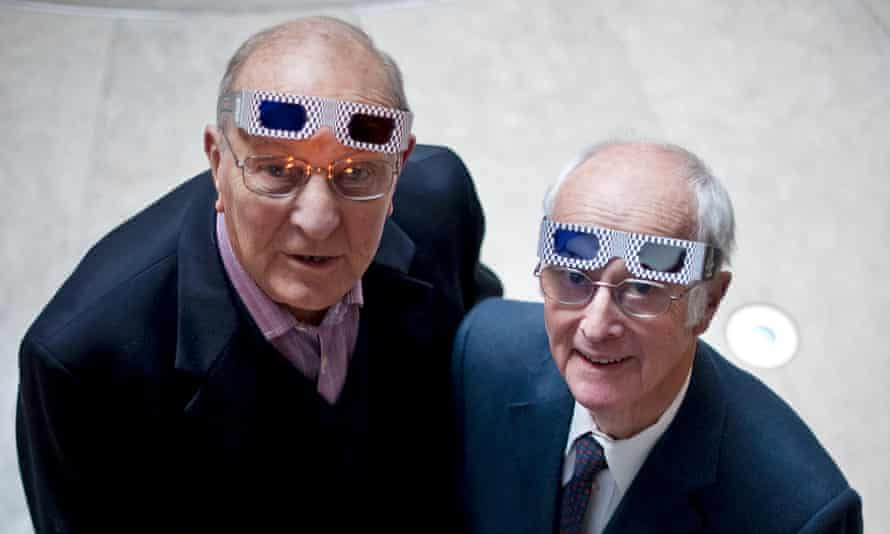 Arthur Wooster, right, and Bob Angell attend the preview screening of The Queen In 3D at Channel 4 studios in 2009.