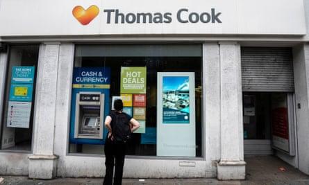 A closed Thomas Cook shop