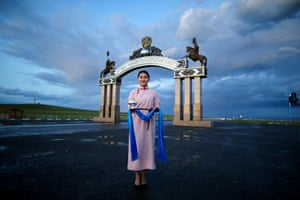 A woman in Khentii, Mongolia