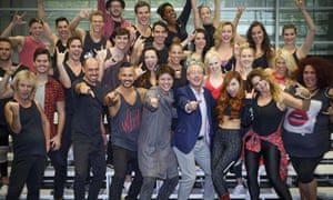 We Will Rock You cast with Ben Elton in Sydney.