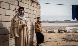 Displaced farmers, now fishermen in Basra marshlands