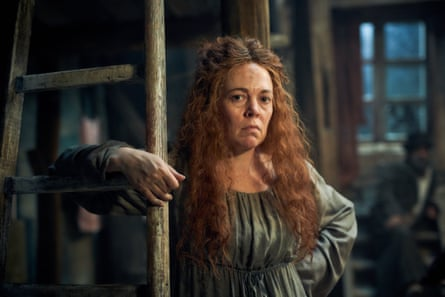Olivia Colman on show-stealing form as Madame Thénardier in Les Misérables.