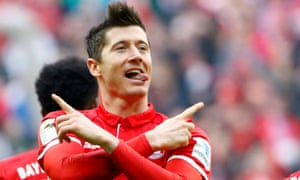 Robert Lewandowski fired up Bayern Munich's title charge with two goals against Eintracht Frankfurt after a slow start by the champions.