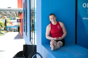Para-powerlifter Nerys Pearce from Wales.