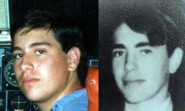Composite photograph showing Guillermo Pérez Roisinblit and his late father José Manuel Pérez.