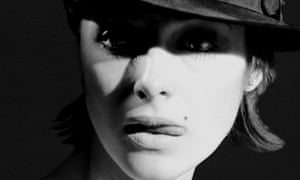 Model, subject and canvas ... Penny Slinger.