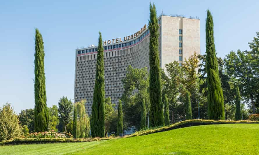 The Uzbekistan Hotel, the first five star hotel in the city. Tashkent is the capital and largest city of Uzbekistan.