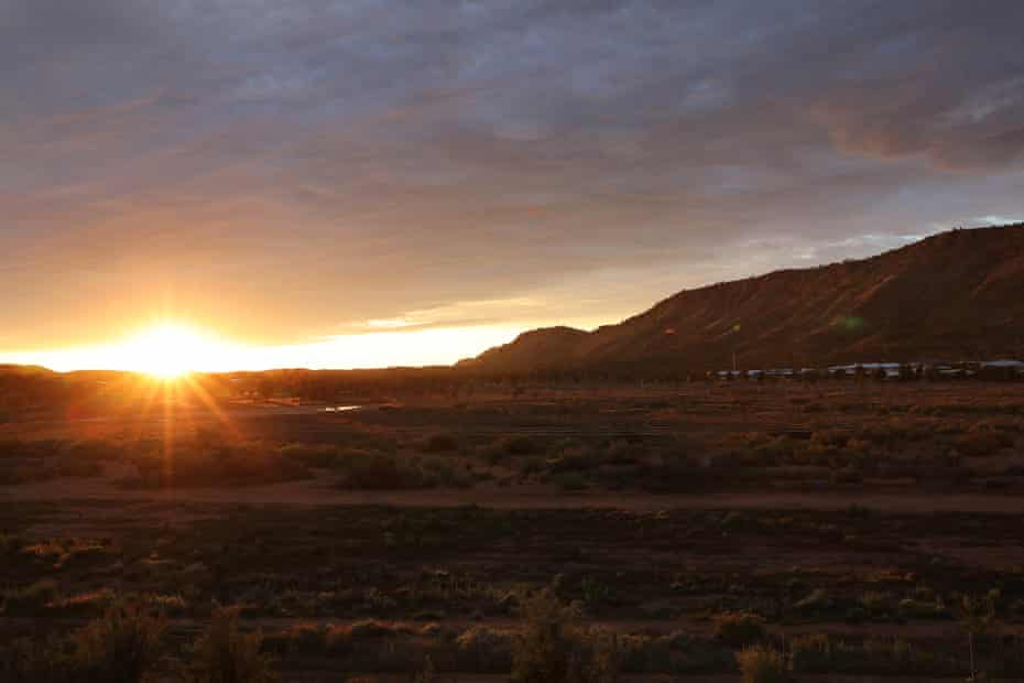 Sunrise over the MacDonnell Ranges