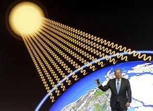 Former US vice-president Al Gore at Davos in 2014