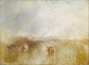 Procession of Boats with Distant Smoke, Venice, c 1845, by JMW Turner.