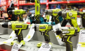 St Albans shoppers are greeted with display tables featuring the latest power tools.