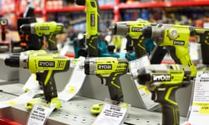 A large selection of power tools