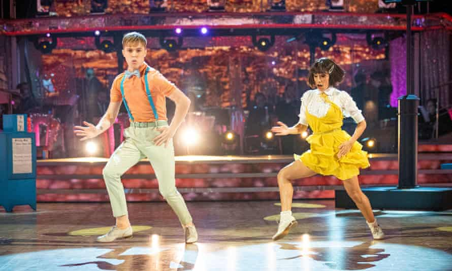 HRVY and Janette Manrara during the Strictly Come Dancing live show on Saturday, 12 December