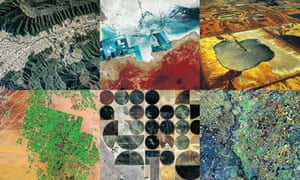 satellite images of human effects on the landscape