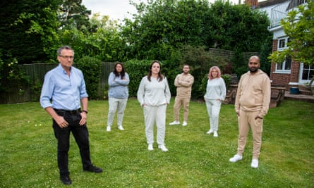 Michael Mosley with the five participants in Channel 4's Lose a Stone in 21 Days.