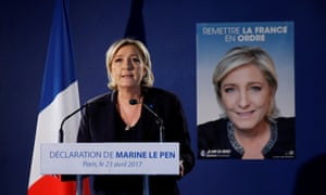 Marine Le Pen, whose key campaign message centres on 'keeping France for the French'.