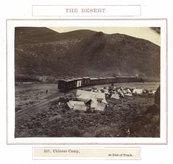 Camp, near Humboldt Wells, Nevada, about 1869.