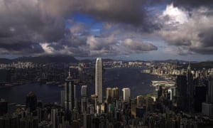 Dark clouds over Hong Kong