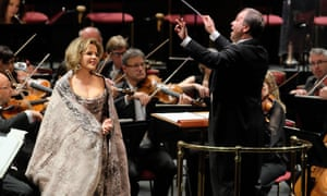 Renée Fleming sings Strauss, with the Royal Stockholm Philharmonic Orchestra, conducted by Sakari Oramo, during Prom 61 at the Royal Albert Hall, London.