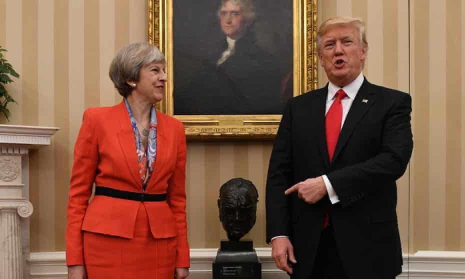 May met Trump at the White House in January.