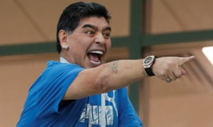 Diego Maradona has enjoyed the World Cup so far.