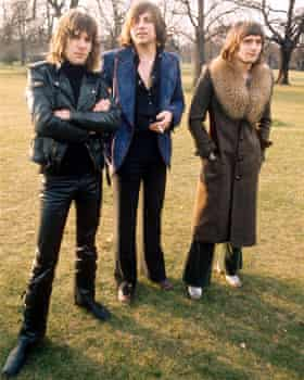 Keith Emerson, far left, with Greg Lake and Carl Palmer in 1973.