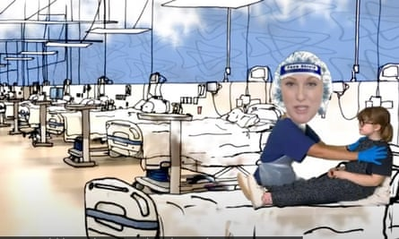 The Princess and the PPE … hospital time.
