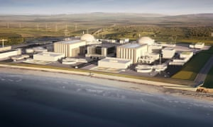 A computer-generated image of Hinkely Point C  nuclear power plant in Somerset.