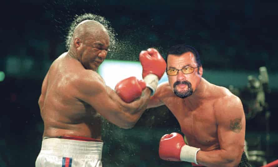Foreman told Seagal on Twitter: 'I challenge you ... I use boxing, you can use whatever.'