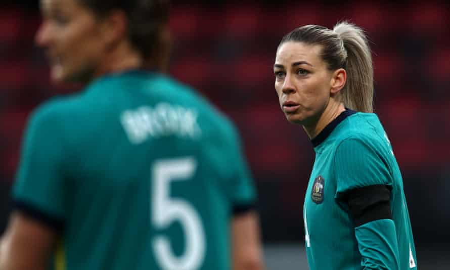 Alanna Kennedy during the Matildas' recent 5-0 defeat to the Netherlands