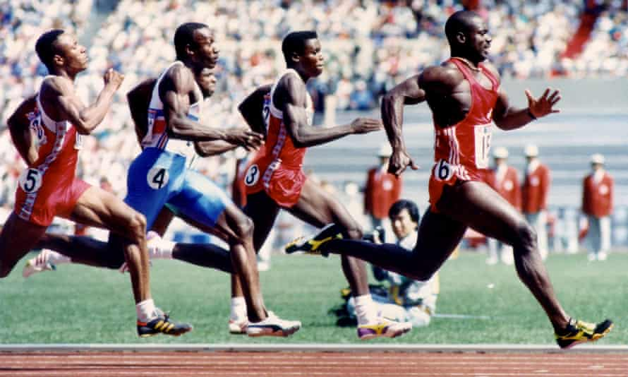 Ben Johnson won gold for Canada in the 100m at the 1988 Olympics before he was stripped of his medal over a failed drug test
