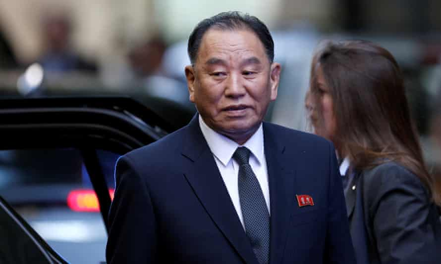 Kim Yong-chol arrives in New York City on Wednesday.