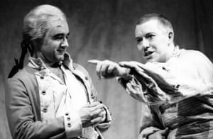 David Haig and Nick Dunning in Our Country's Good by Timberlake Wertenbaker, directed by Max Stafford-Clark, in 1988.