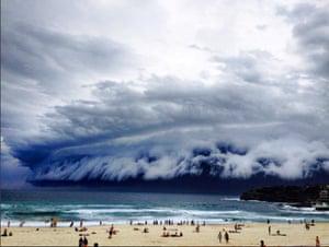 A shelf cloud forming over Sydney, Australia, on November 6, 2015.