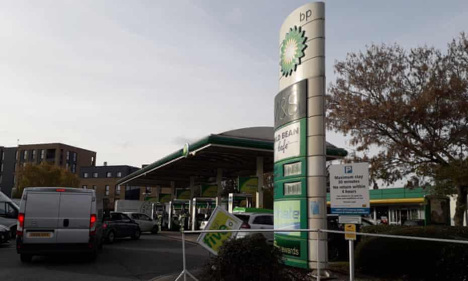 BP service station in Croydon