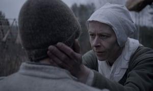 Kate Dickie as Puritan mother Katherine.