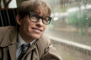 Eddie Redmayne plays Stephen Hawking in The Theory of Everything.