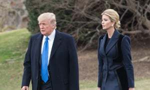 Donald Trump and his daughter Ivanka walk to board Marine One at the White House on Thursday.