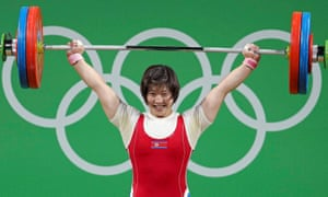 Rim Jong Sim said she did not feel pressure to win and just focused on each lift.