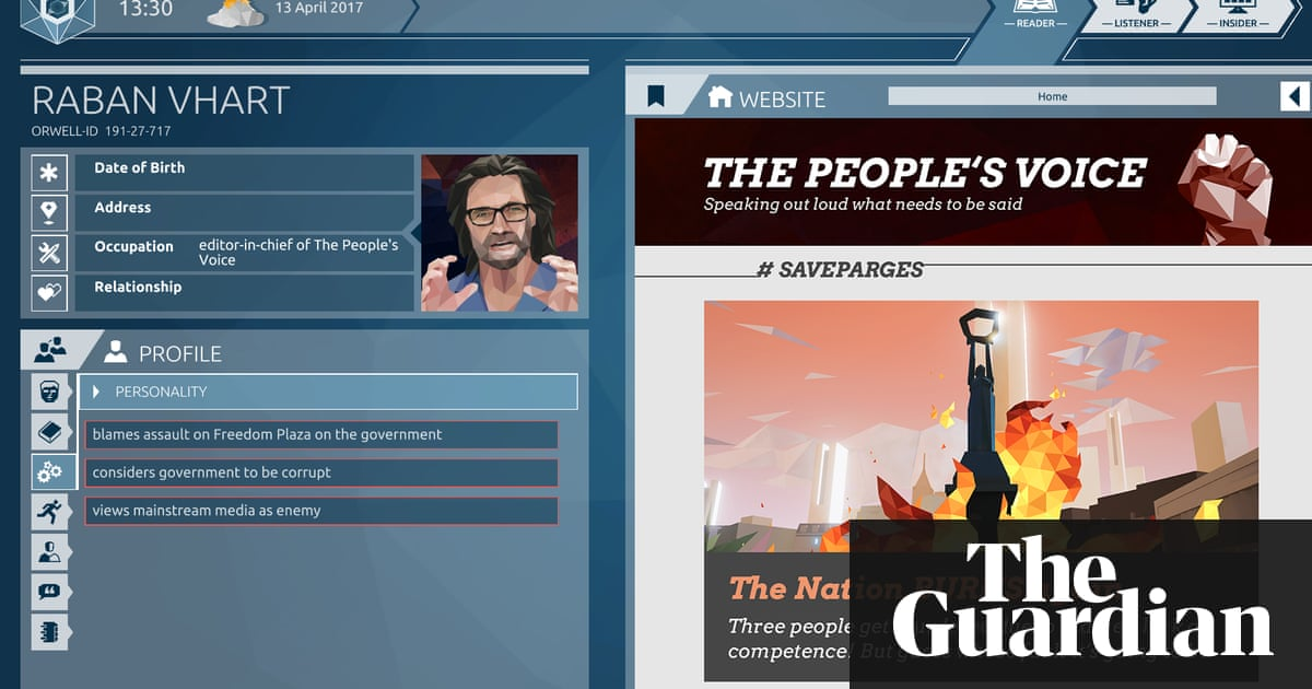Hack, spy, swing an election: Orwell game sums up life in a tech dystopia