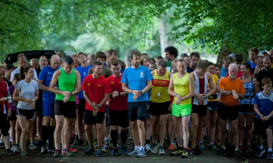 'There's something about being in a group that seems to make running easier.'
