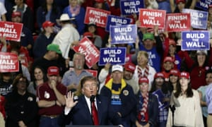 Trump in El Paso last week. Trump will try to define Democrats in a negative way by going after the party's most visible young stars, experts said.