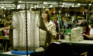 Quality control at a Scottish knitwear company.