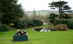 Henry Moore's Reclining figure: Angels, 1979 at a Yorkshire Sculpture Park exhibition in 2015.