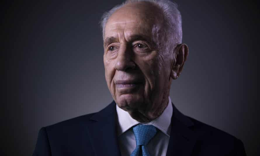Shimon Peres poses for a portrait at the Peres Center for Peace in Jaffa, Israel