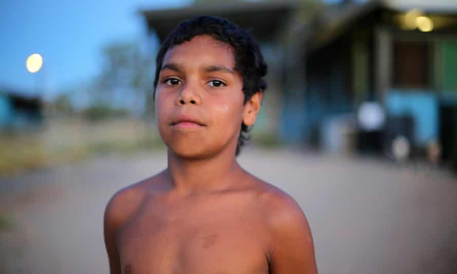 Arrernte boy Dujuan Hoosan, who lives in Alice Springs, is the subject of In My Blood It Runs.