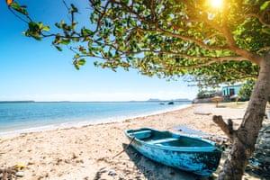 Sun, sea and sand: the beach at Gibara.