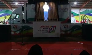 Presidents Hologram Hits Indonesias Election Campaign